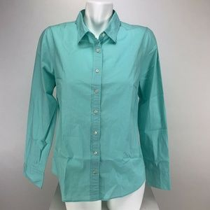 J. Crew Stretch Perfect Button Front Top